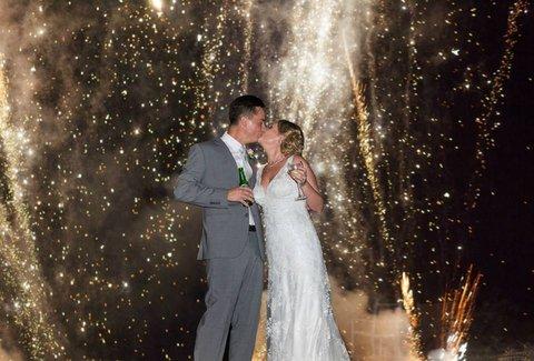 Wedding Fireworks Newell Beach
